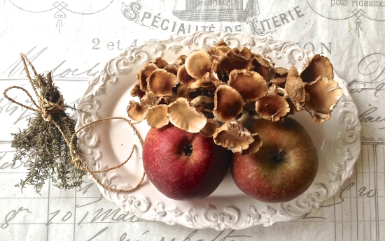 Thanksgiving apples and mushrooms
