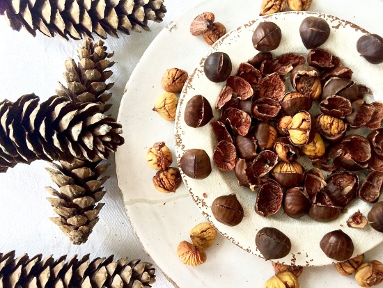 Chestnuts and pinecones