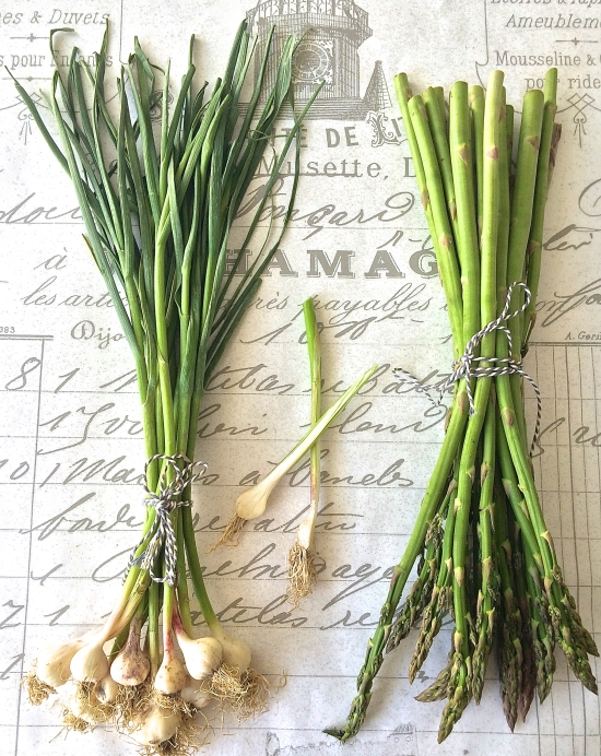 Garlic and Asparagus