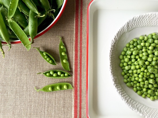 Green peas shelled