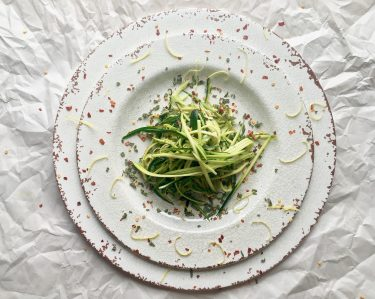 Zucchini ribbon plate
