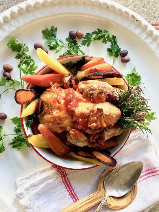pollo-alla-cacciatora-and-serving-spoons